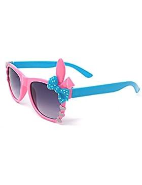 Ultra® rosa con azul arco lindo Multi Color traje jugar gafas 3D para niños niños lente conejito corazón arco...