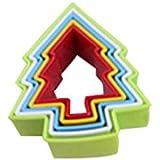 5pcs galletas DIY molde diseño de árbol de Navidad cortador galletas para tarta Herramientas