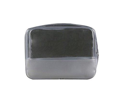 Yuanu Multi-Fonction Transparent PVC Zipper Trousse Maquillage Imperméable Tension À Haute Fréquence Sac De Toilette Convenient Durable Nécessités Quotidiennes Sac De Rangement Comme L'Image
