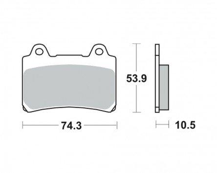 Preisvergleich Produktbild Bremsbeläge TRW MCB 559 für YAMAHA XVZ 1300 TF Venture Royal 3JS 86-95 (hinten)