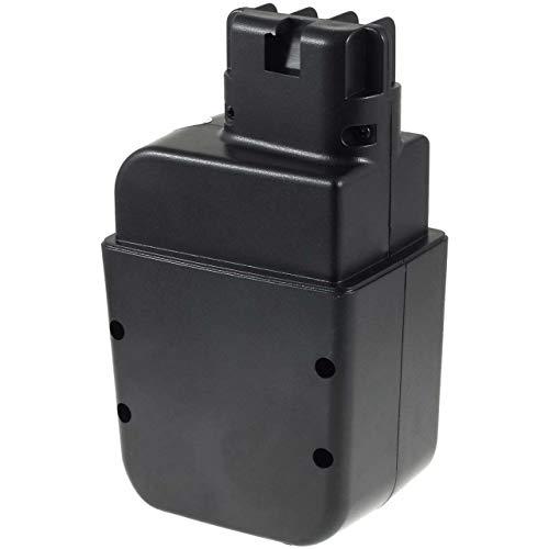Powery Batterie pour metabo modèle/réf. 6.3132700 (Contact Plat), 12V, NiMH [ Batterie Outil électroportatif ]
