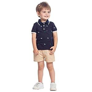 SUDADY - Conjunto de Camiseta de Manga Corta y Pantalones Cortos de Verano con Flor, cómodo, Transpirable, niños y bebés 13