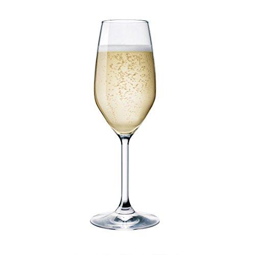 Set 6 calici flute prosecco champagne divino 24cl bormioli rocco vetro cristallino