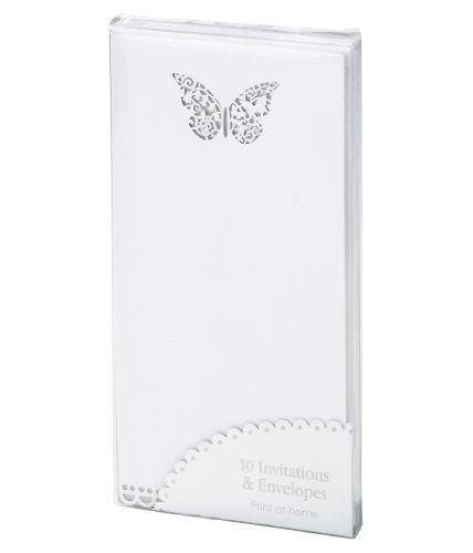 Talking Tables Something in The Air Papier Einladung Karten für eine Hochzeit, weiß (10Stück) (Elegante Bridal Dusche Einladungen)