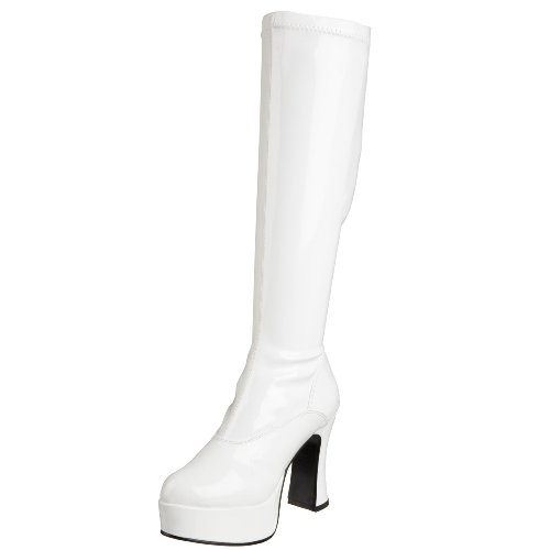 Hippie Kostümen Halloween Uk (Pleaser Exotica-2000, Damen Stiefel, Weiß (White), 37 EU (4)