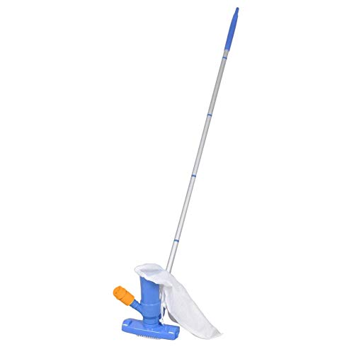 Alexsix Swimming Pool Spa Vacuum Brush Cleaner Portable Tool Pond Mini Jet Vac Vacuum Cleaner for Pond Fountain Hot Tub - Spa Vac