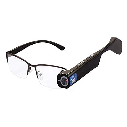 KCaNaMgAl Intelligente Brille, intelligente Videobrille, Sprechanlage, WiFi-Video-Live-Video, HD 1080P-Kamera, Echtzeit-Sharing-Brille,White Live-kamera-video