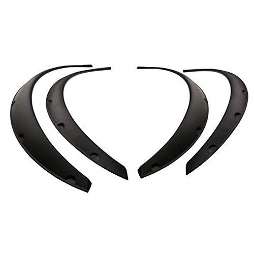 4 Stücke Universal Flexible Auto Kotflügelverbreiterungen Extra Breite Körper Rad Bögen Rad Augenbrauenschutz Lippenaufkleber Trim (Black Fender Trim)