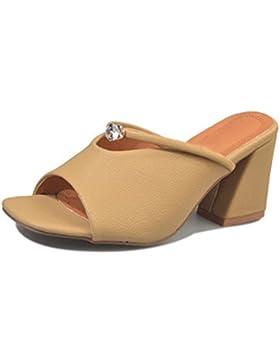 calzados informales de las sandalias sandalias de verano y zapatillas , yellow , US6.5-7 / EU37 / UK4.5-5 / CN37