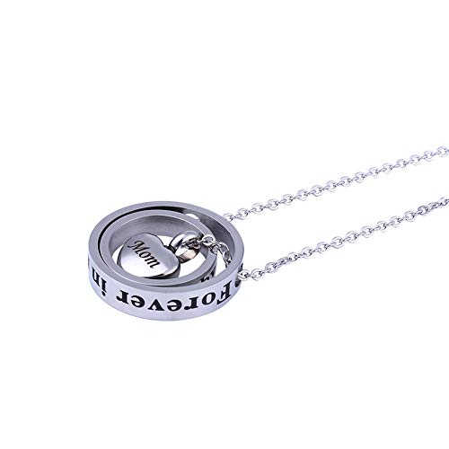 51110fc7decd0 Ohwens Ashes Necklace for Dad & Mom,Memorial Necklace,Pendant  Necklace,Keepsake Necklace for Ashes,Sympathy Gift - No Longer by My Side  Cremation Urn ...