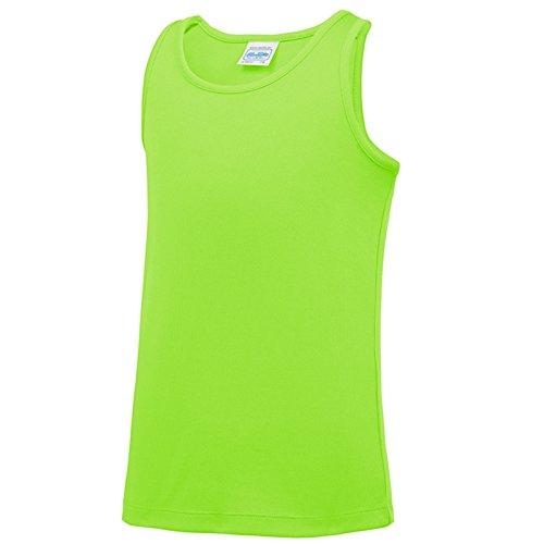 AWDis Damen Modern T-Shirt X-Large Gr. Medium, Electric Green (Ringer T-shirt Green Go)