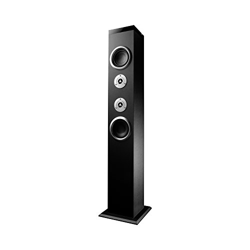 Energy Sistem Tower 3 Bluetooth (sistema di altoparlanti a torre 2.0, potenza reale di 40W, USB/SD, ingresso di audio, radio FM, display LED) - Nera