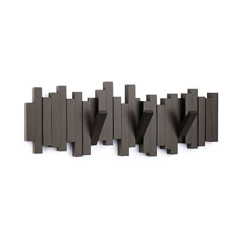 Umbra 318211-213 Sticks patère multi-crochets espresso plastique 48 x 18 cm