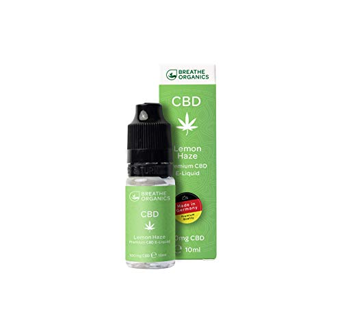 Premium CBD Liquid Lemon Haze von Breathe Organics | CBD Liquid 100 mg | Cannabidiol 100 mg | Menge 10 ml | VG max | ohne Nikotin | Made in Germany | 100% natürliche Terpene