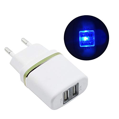 Mumuj USB Ladegerät 2,1A mit 2 USB-Anschlüssen Netzteil Stecker Ladestecker für iPhone, iPad, Samsung Galaxy, HTC, Motorola, LG (Grün) Motorola Bluetooth-usb
