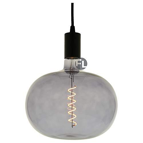 Moderne interior Led Glühbirne E27 4 Watt dimmbar XXL Kürbis grau   Leuchtmittel Led   Lampe geeignet für Pendelleuchten, Hängelampen sowie dekorative Beleuchtung   Leuchtmittel E27 led warmweiß