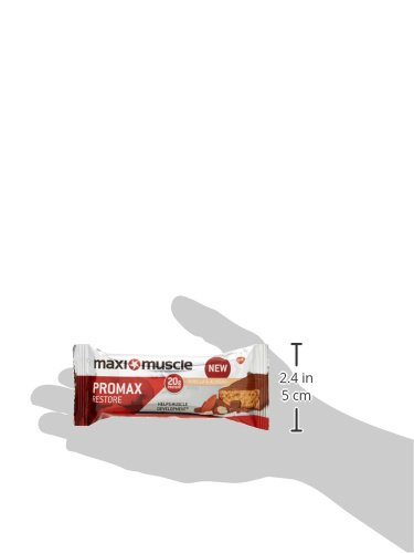 Maximuscle Promax High Protein Bar, 60 g – Vanilla and Almond, Pack of 12
