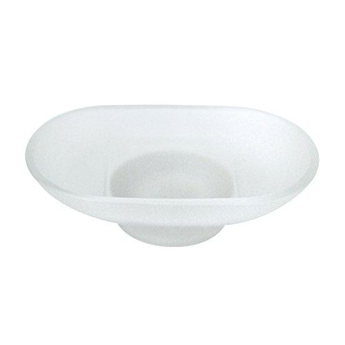 Glas Oval Seifenschale (modona Milchglas Ersatz Seifenschale–oval)