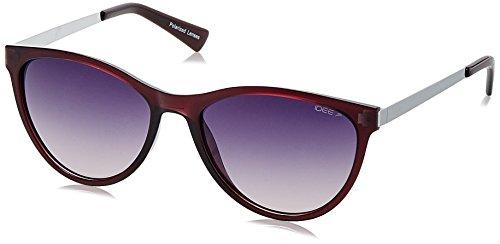 IDEE Polarized Round Women's Sunglasses - (IDS2076C3PSG|56|Smoke Gradient Blue lens) image