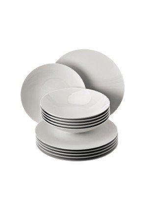 Rosenthal - TAC Gropius Tafelset 12- teilig - Weiß (Speiseteller Ø 28 cm/Suppenteller Ø 24 cm) Rosenthal Tac