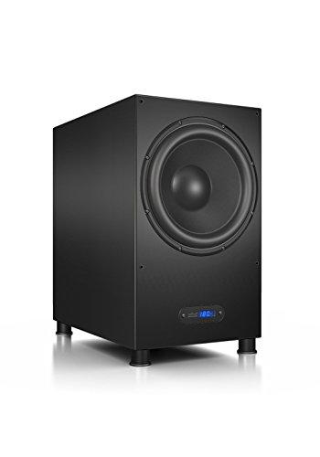 Nubert nuLine AW-1100 Subwoofer | Lautsprecher für Bass & Effekte | Surround & Action auf hohem Niveau | Aktivsubwoofer-Technik | LFE-Box mit 380 Watt | Grenzfrequenz 19 Hz | Subwoofer Schwarz