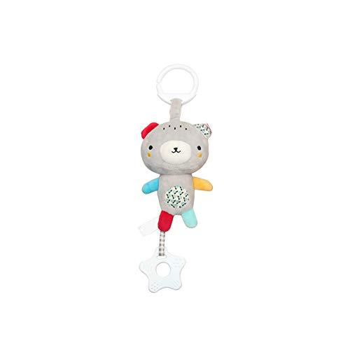 Sungpunet Kinderwagen Ton Spielzeug Cartoon-Tierform hängende Glocke mit Haken Kindern Fassen Entwicklungs-Plüsch-Spielzeug-Set Musical Krippe Mobile (Gray Little Bear) -