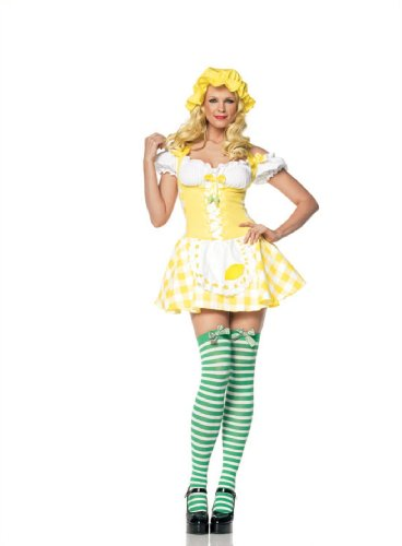 Leg Avenue - Lemon Girl Dirndl Kostüm - gelb - 83313 (Oktoberfest Kostüme Girl)