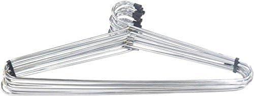 Aviyansh Enterprises 12+12=24 Stainless Steel Strong Metal Wire Hangers, Coat Hanger, Standard Suit Hangers, Clothes Hanger, Pack of 12