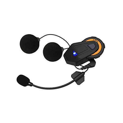 Intercom, Motorradhelm Wasserdichtes Motorrad für Bluetooth Interphone Headse Bluetooth-Kommunikationssystem, 6 Fahrer können gleichzeitig sprechen