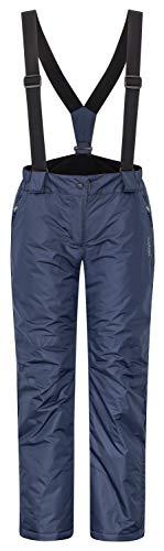icefeld Damen Skihose/Snowboardhose/Schneehose, Marineblau in Größe M