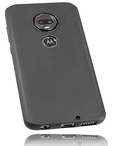 mumbi Schutzhülle Kompatibel mit Motorola Moto G7 Plus Hülle, Handyhülle Passgenau, Schwarz
