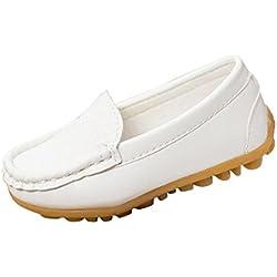 Tefamote Zapatos Botas Zapatillas de Deporte Suela Casual Cuna Ocio Antideslizante Para Bebé Recién Nacido Niño niña (27, Blanco)