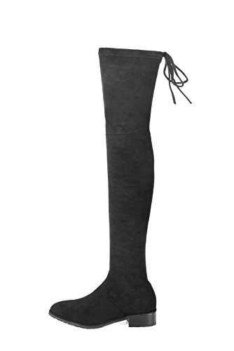 9416c90d217 Miuincy Thigh High Boots Women Fashion Snow Boots Stretch Fabric Over The Knee  Boots Sexy Womens Winter Boots Black Shoes Woman