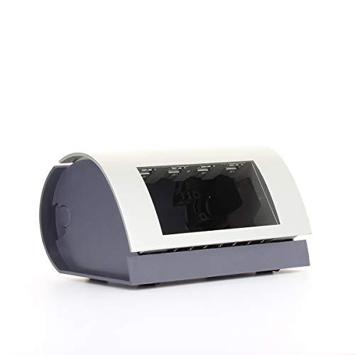 Techly 102833 Postazione di Lavoro Mobile compatta con Altezza Regolabile Nero