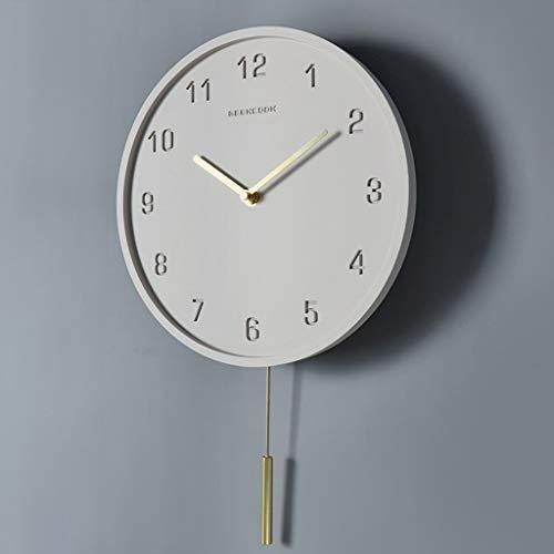 BBJOZ 10-Zoll-Wanduhr Swing Clock Super Leise Keine Zecke Quarzuhr Hat Keinen Einfluss Auf Den Schlaf (Color : C)