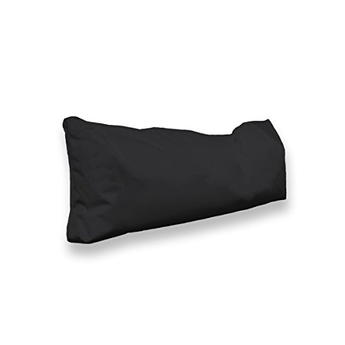 berlinpillow.de 4260406163372 Original Bean Bag In und Outdoor PalettenRückenkissen Pallets Bag, 100 x 30 x 10 cm, schwarz