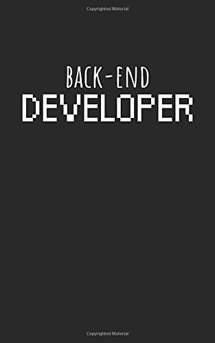 Backend developer: Notizbuch mit Entwickler/Informatiker Spruch, Punktiert/Dots. Für Notizen, Skizzen, als Kalender oder Geschenk.