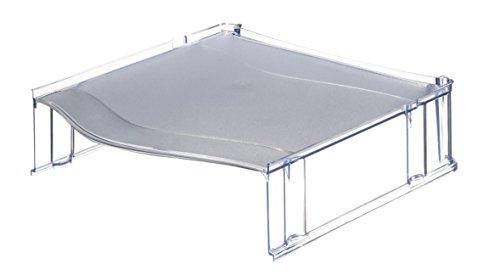 Leitz 52340092 Distanzelement Plus, für Briefkörbe, grau transparent