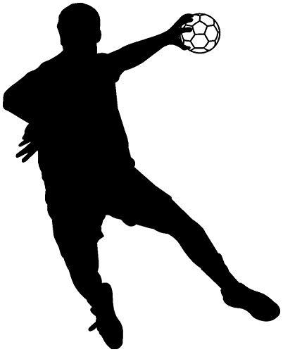 plot4u Autoaufkleber Handballspieler Fallwurf Aufkleber in 8 Größen und 25 Farben (30x24cm schwarz)