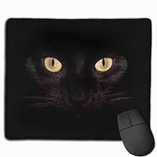 pad-Matte, Smooth Mouse Pad Black Cat Halloween Mobile Gaming Mousepad Work Mouse Pad Office Pad ()