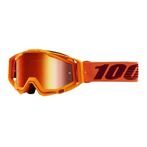 100% Racecraft Orange Erwachsene Menlo Brilles w/Rot Spiegel Linse
