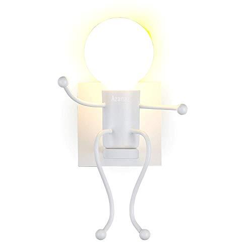 E27 Wandleuchte Wandlampe Effektlampe Flurlampe Treppenleuchte Nachttischlampe Cartoon Lampe-Weiß 14 x 19 x 24 cm -