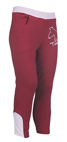 HKM Erwachsene Reitleggings-Piccola-Silikon-Kniebesatz3900 pink98/104 Hose, 3900 pink, 98/104