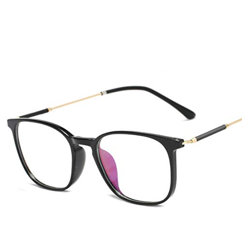 Mkulxina Brillenmänner und -Frauen allgemeine Computeraugenschutzbrille der Art und Weise des Metallrahmens Blaue (Color : Gold)