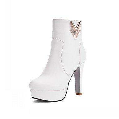 Rtry Femmes Chaussures Pu Similicuir Automne Hiver Confort Nouveauté Mode Bottes Chunky Bottes Bout Rond Bottillons / Zipper Cheville Bottes Pour Party & Amp; Us5 / Eu35 / Uk3 / Cn34