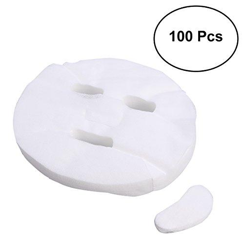 100 stücke Einweg Gesichtsmaske Reiner Baumwolle Papier Gesichtsmaske Blatt ultradünne DIY Kosmetik Gesichtspflege Maske -