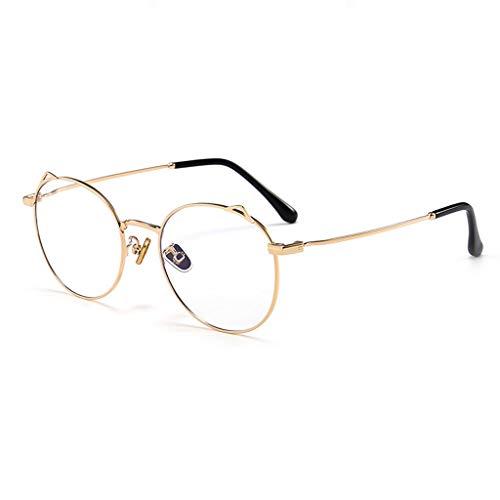 Brillen Anti-Blue-Light Moderne Einfachheit Schutzbrille für Computer/Telefon Besserer Schlaf [Anti-Augen-Müdigkeit] Wddwarmhome (Farbe : Gold)