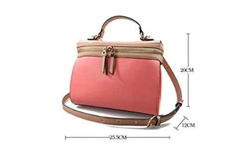 Borse di colore di combattimento, borsa di cuoio di modo della moda di estate, pacchetto di marea ( Colore : Bianca ) Rosa
