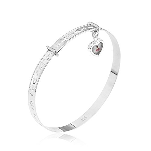Lisa Jane Silver Children's Expander Sterling Silver Bangle With Charm