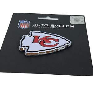 Kansas City Chiefs WinCraft NFL Acryl Metallic 3D Auto Emblem Aufkleber in 8 x 8 cm -